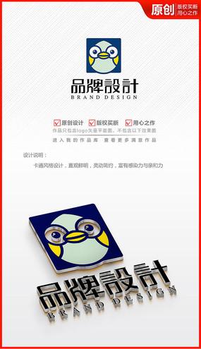 卡通APP图标logo小鸟鸡蛋商标志