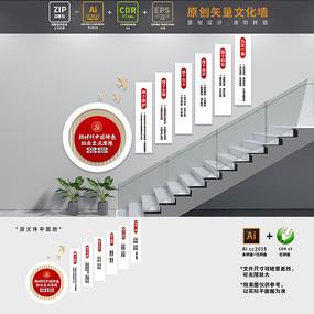 中国特色社会主义思想楼梯文化墙