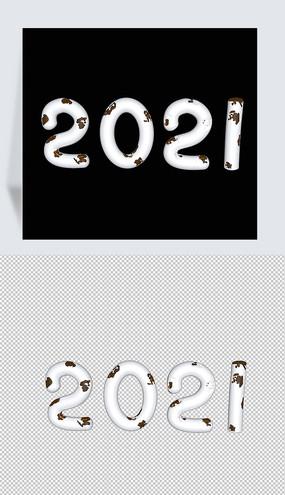 2021立体数字陶瓷金c4d模型