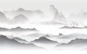 高端室内山水背景墙