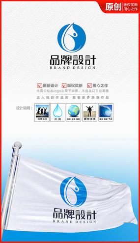 活力健康水滴精华logo商标志设计