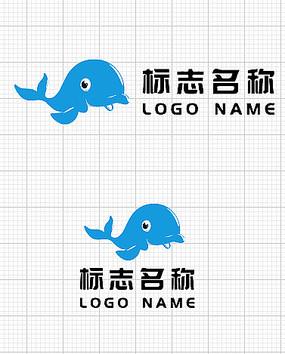 鲸鱼企业标志名称logo设计