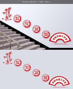 劳模创新工作室党建文化楼梯墙
