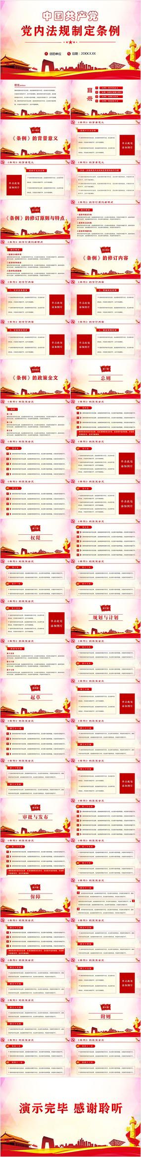 中国共产党党内法规制定条例PPT