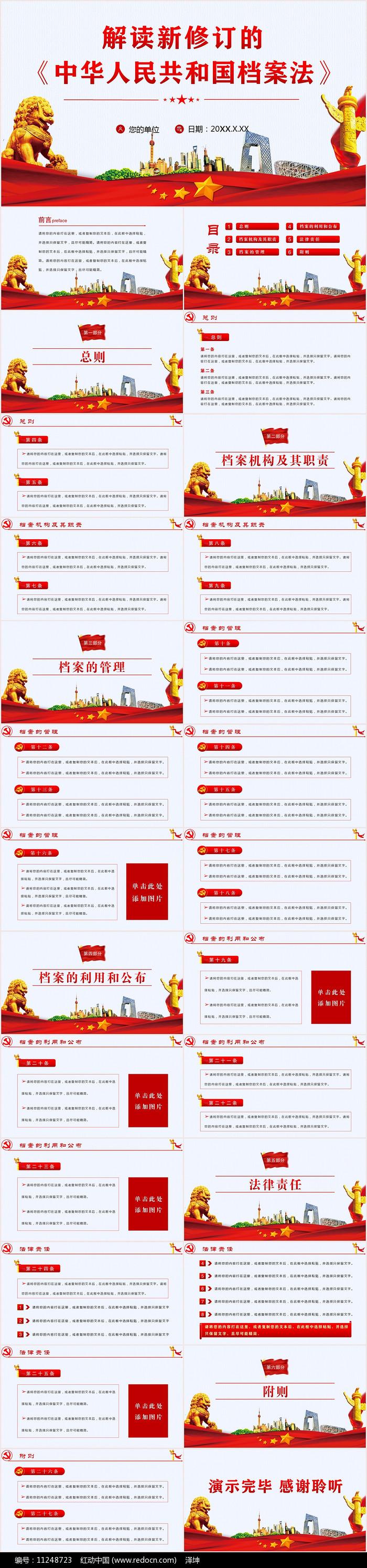 中华人民共和国档案法PPT