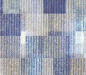 高端抽象格子藍色背景墻