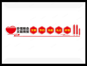 食堂标语文化墙创意设计