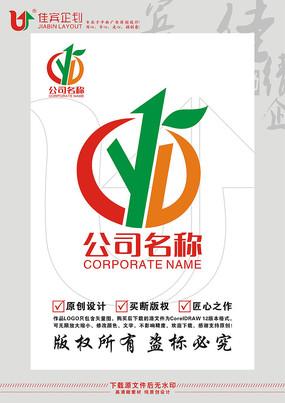 CYL英文字母水果标志设计