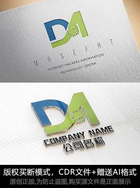 DM字母logo标志DM字母商标