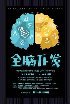 全脑开发培训宣传海报