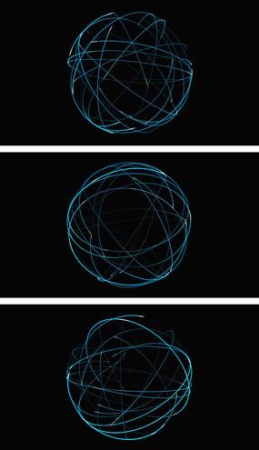 4K地球圆形连线视频素材