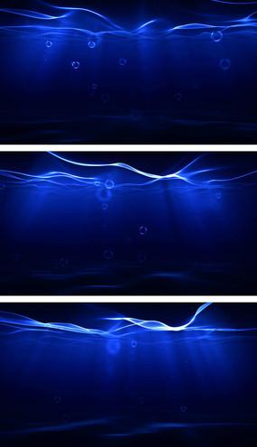 4K仿真海底世界纯净波浪透光视频素材