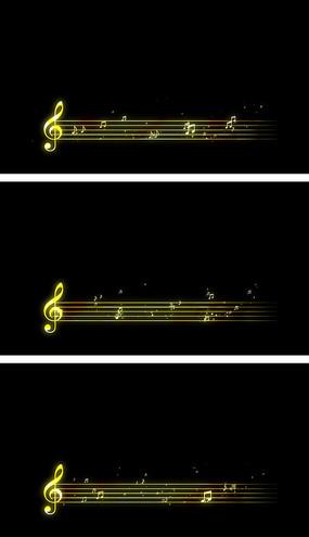4K五线谱音乐MV歌词铺底音符飘扬视频素材