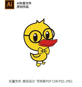 卡通鸭子图形LOGO标志