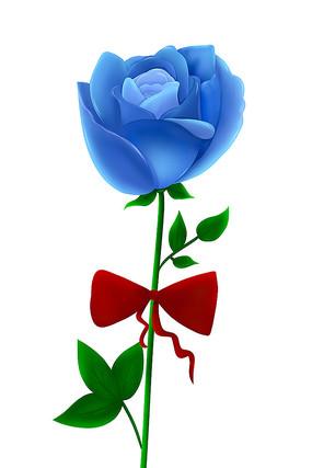 原創蝴蝶結藍玫瑰花