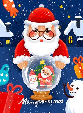 原創圣誕節插畫