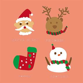 原创圣诞节卡通元素设计
