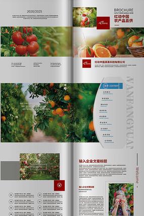 简约农业画册版式设计