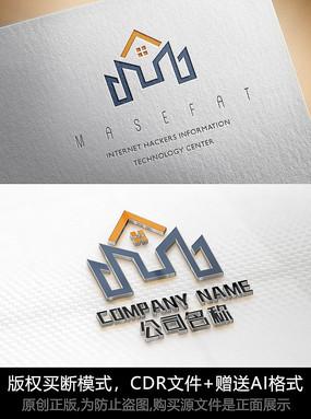 房子logo標志公司商標設計
