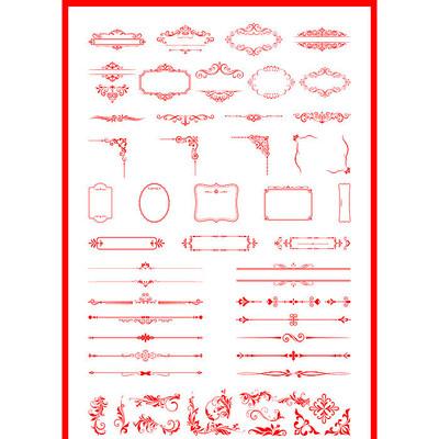 欧式花纹素材中式边框元素