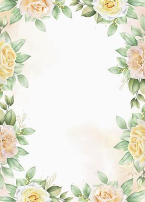 婚庆花边框素材