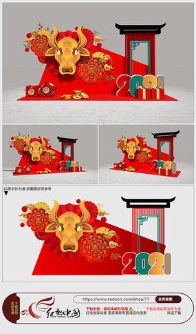 2021年牛年春节美陈造型设计