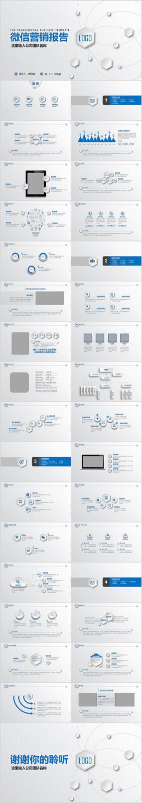 互聯網電子商務微信營銷工作報告PPT