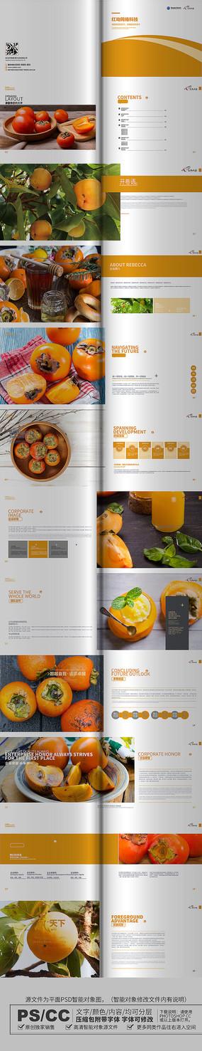 原创柿子画册设计