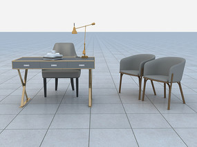 辦公桌3D模型