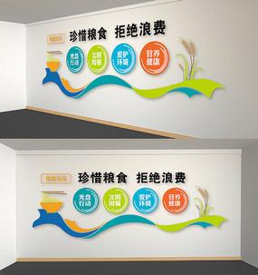 卡通校园食堂文化墙设计