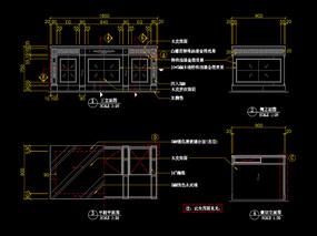 美式办公室CAD书桌