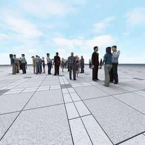 人物交談合集3D模型