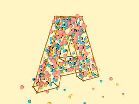 A英文字母C4D字体