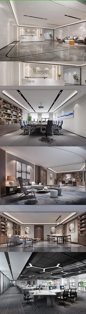 办公室精装设计高清效果图