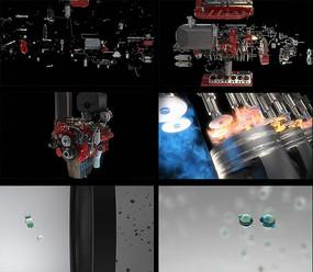 发动机组件功能运作细节视频素材