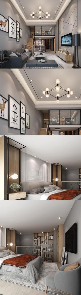 高清loft公寓设计效果图