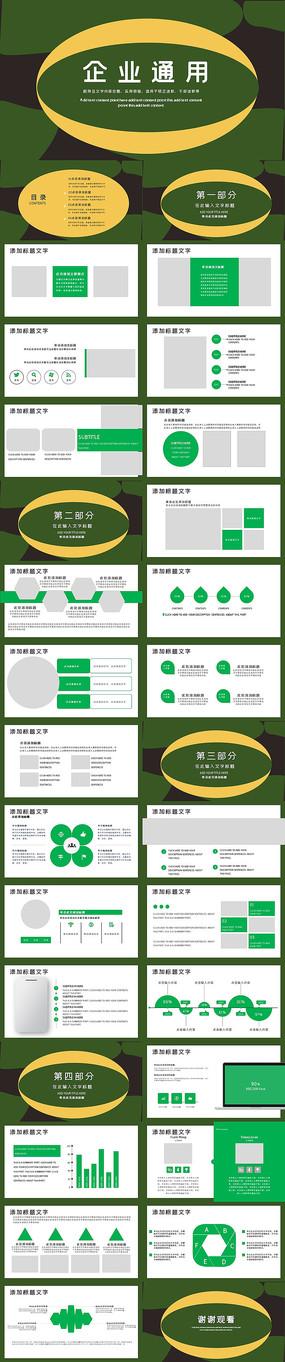 企業宣傳商務產品計劃匯報總結PPT模板