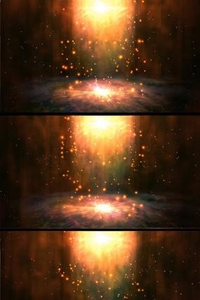 上升的光粒子唯美舞台背景视频素材