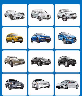 矢量汽车素材卡通汽车元素