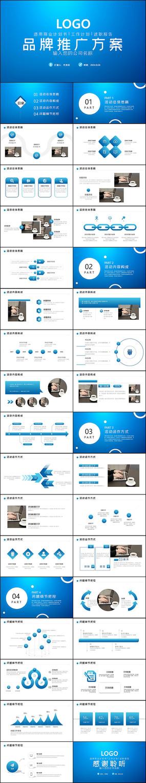 完整框架品牌推廣方案PPT模板