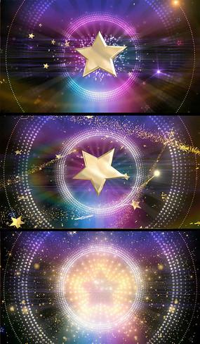 旋转的五角星光点特效视频素材
