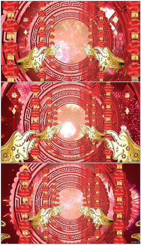 2021牛年喜慶企業春晚led背景視頻模板