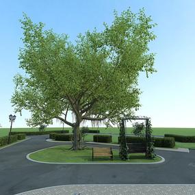 公園3D模型