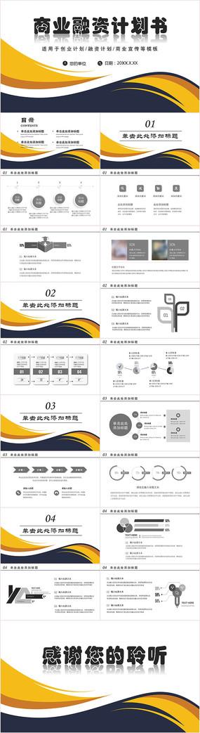 商业融资计划书PPT模板