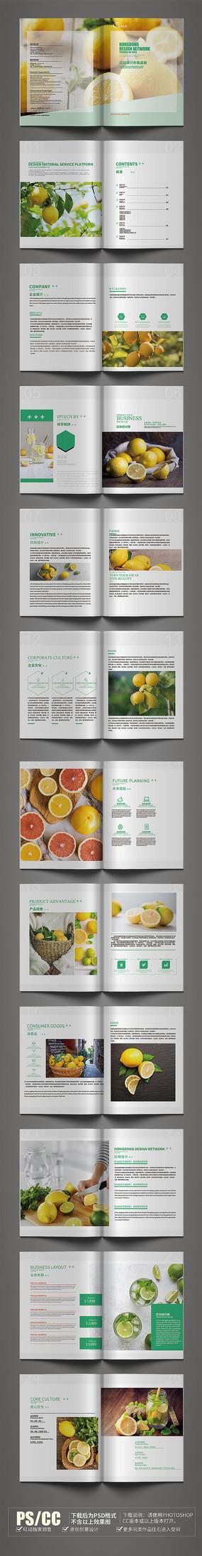 简约原创柠檬画册设计