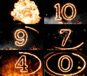 火焰爆炸10秒倒計時4K視頻素材