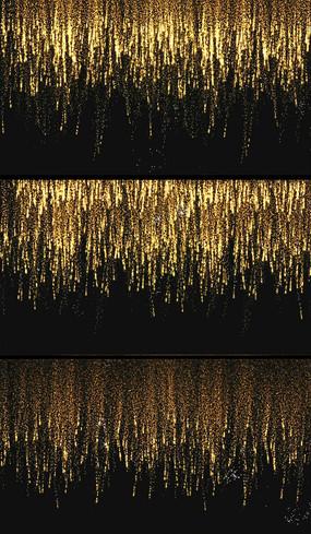 金色瀑布烟花视频素材