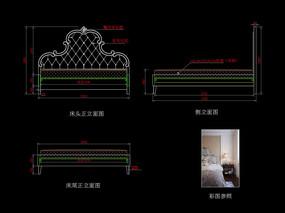 美式家具CAD雕刻床家具图库