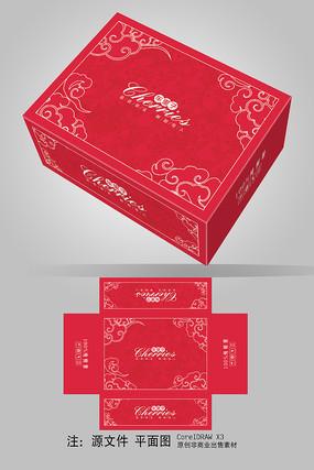 紅色櫻桃車厘子包裝設計