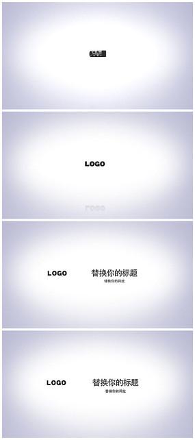 簡潔白色企業片頭Logo視頻模板